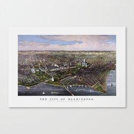 The City Of Washington - Birds-Eye View Canvas Print