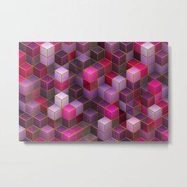 Colorful cubes 1. Metal Print