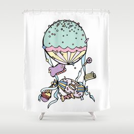 Catching Candies Shower Curtain