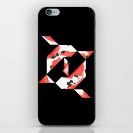 Tangram Koi - Black background iPhone Skin