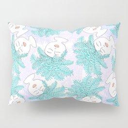 Fern-tastic Girls in Teal + Periwinkle Pillow Sham