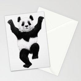 Panda Crane Technique - karate, kung fu, panda, karate kid, humor, silly, animal, c Stationery Cards