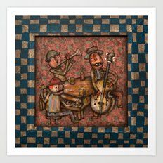 The Small Big Band Art Print