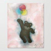 teddy bear Canvas Prints featuring Teddy by Logan Dempsey