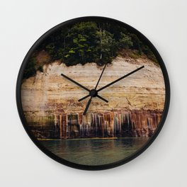 Pictured Rocks III Wall Clock