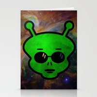 alien Stationery Cards featuring Alien by Spooky Dooky
