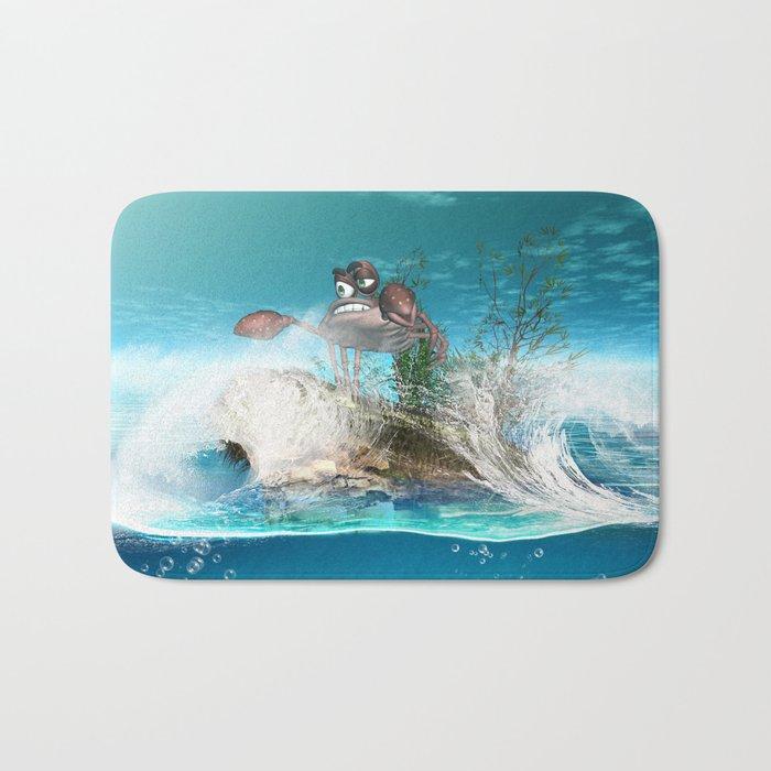 Funny crab Bath Mat