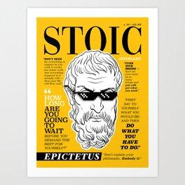 Stoic. Epictetus Art Print