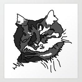 Cat Zzz... Art Print