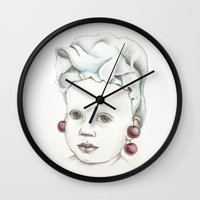 cherry Wall Clocks featuring Cherry by VicFreyd