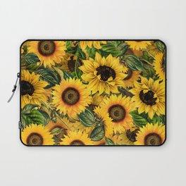 Vintage & Shabby Chic - Noon Sunflowers Garden Laptop Sleeve