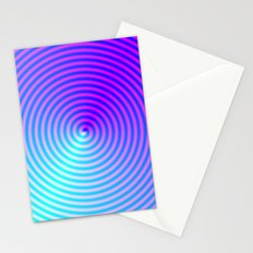 Coiled in Blue and Pink Stationery Cards