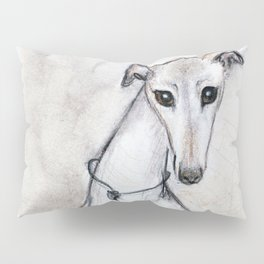 The Greyhound Wearing His Thorn Pillow Sham