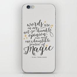 Dumbledore's Magic Words iPhone Skin