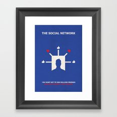 The Social Network Alternative Minimalist Poster - Dislike Framed Art Print