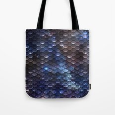 Mermaid Nebula Scales Tote Bag