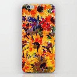 Golden Sunflower Garden iPhone Skin