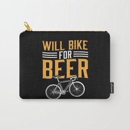 Will Bike For Beer Cycling Lover Carry-All Pouch