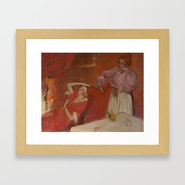 Combing the Hair by Edgar Degas Framed Art Print