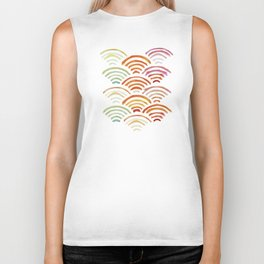 Baesic Watercolor Wifi Swash Biker Tank