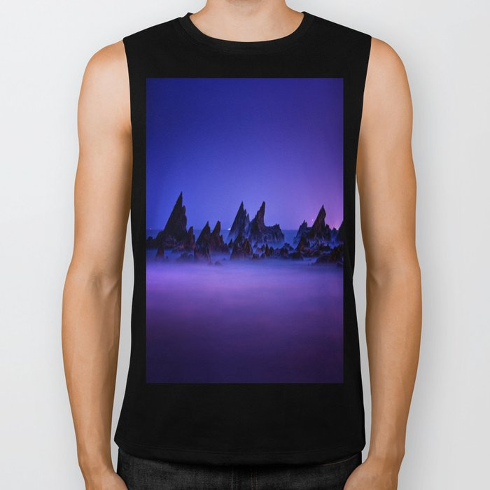 Still Waters Jagged Rocks Biker Tank