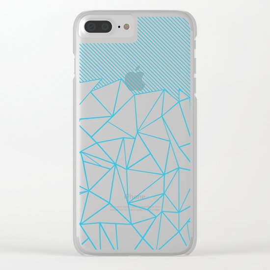 Ab Lines 45 Electric Clear iPhone Case