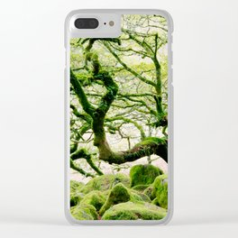 The ancient forest of Wistman's Wood on Dartmoor Clear iPhone Case