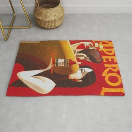 Aperol Alcohol Aperitif Spritz Vintage Advertising Poster Rug