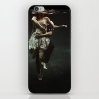 portrait iPhone & iPod Skins featuring abyss of the disheartened : V by Heather Landis
