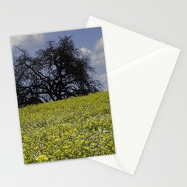 Mustard Seed Flower Fields, Fields of Flowers in Sonoma County, California Photography, Landscape, Spring Photography Stationery Cards