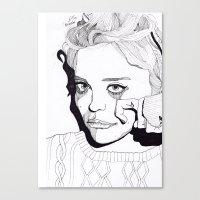 sky ferreira Canvas Prints featuring Sky Ferreira by ☿ cactei ☿