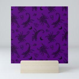 Scorpio Moon on Purple Mini Art Print