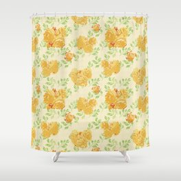 Watercolor rose pattern Shower Curtain
