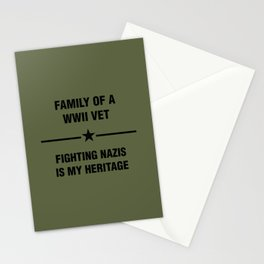 WWII Family Heritage Stationery Cards
