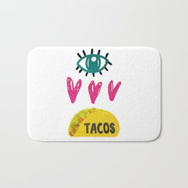 Eye Love Tacos Bath Mat