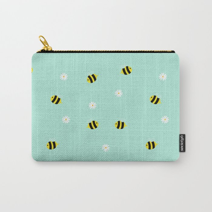 Bees and daisies Carry-All Pouch