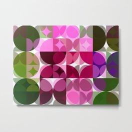 Rosas Moradas 3 Abstract Circles 3 Metal Print