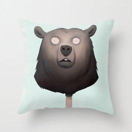 Baer on a Stick Throw Pillow