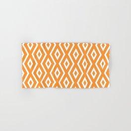 Orange Diamond Pattern Hand & Bath Towel
