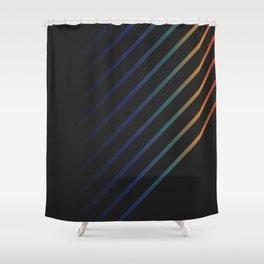 Rainbow in the Night Shower Curtain