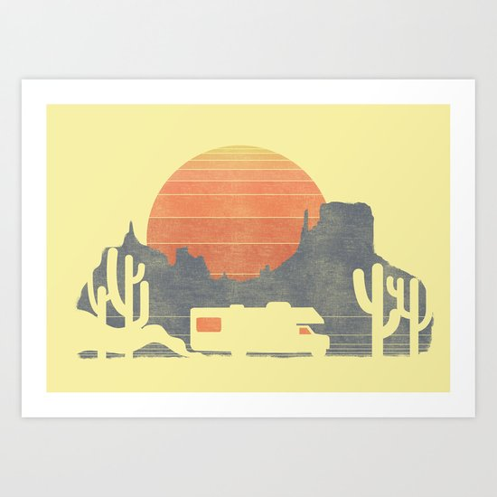 Trail of the dusty road Art Print