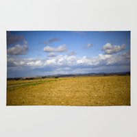 german Area & Throw Rugs featuring German Countryside by Mitch Tuckness