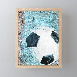 Soccer art Framed Mini Art Print