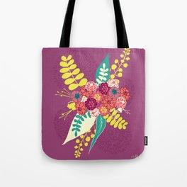 Violet flower bunch Tote Bag