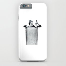 Carrie Fisher in a Trashcan iPhone Case