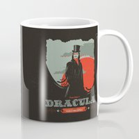 movie poster Mugs featuring Dracula movie poster by Inno Theme