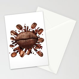 Coffee Lips Stationery Cards