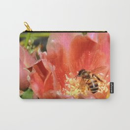 Prickly Pear Cactus Blossom with Visitor Carry-All Pouch
