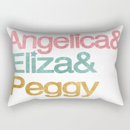 Schuyler Sisters in helvetica colors Rectangular Pillow