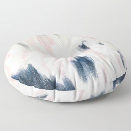 Blush Pink and Blue Pretty Abstract Floor Pillow